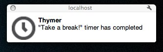 Thymer Notification in Chrome